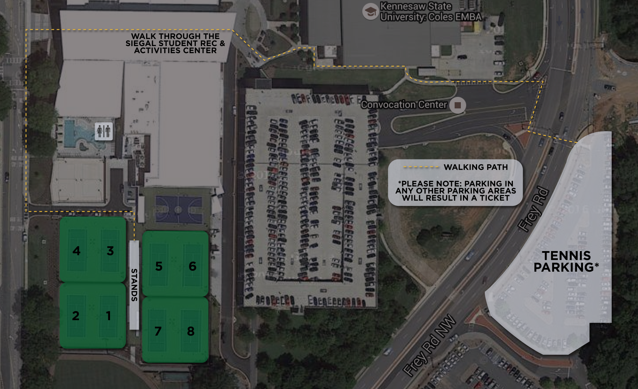 Kennesaw State Football Parking Map